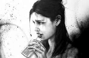 iamjustascribbler rarlo magazine charcoal drawing sketches